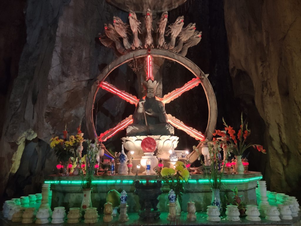 Buddhist altar in the Marble Mountains