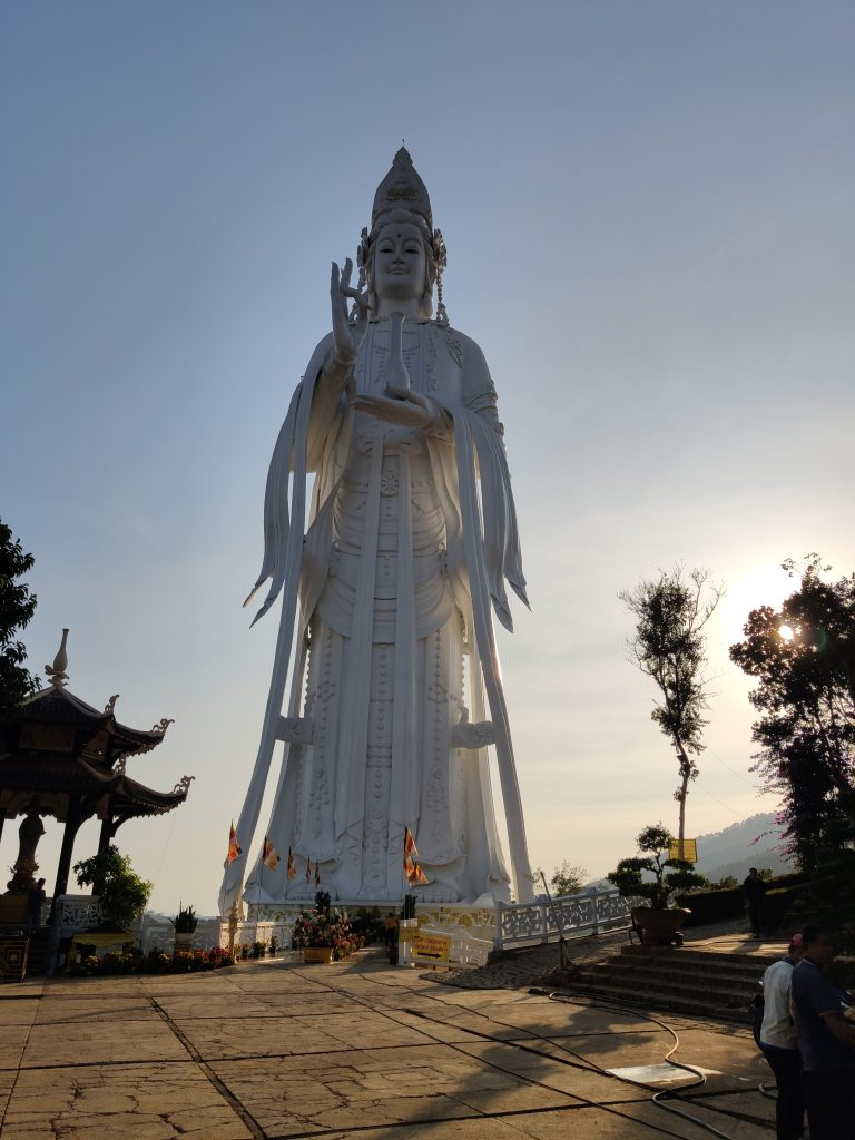 Gigantic statue of Guan Yin in Da Lat