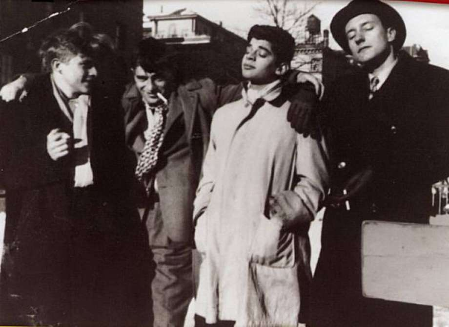 From left Hal Chase, Jack Kerouac, Allen Ginsberg and William S. Burroughs. New York, 1944.